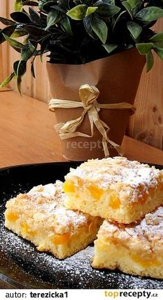 Slovak Recipes, Czech Recipes, Bread And Pastries, Sweet Cakes, Kefir, Desert Recipes, No Bake Cake, Sweet Tooth, Food And Drink