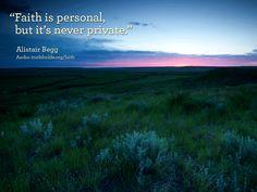Faith is personal...
