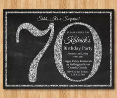 70th Birthday Invitations With Photos