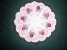 Felt Hand Sewn Appliqued Candle or Coaster Table by anncraftcorner, $4.00
