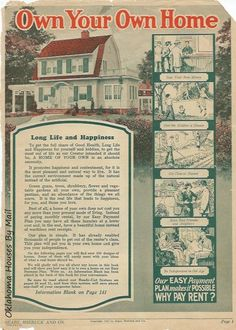 The Sears Modern Homes catalog from The cover house is the Sears Glen Falls. This catalog features interior views of 15 models. Dutch Colonial Homes, Glens Falls, Home Catalogue, Kit Homes, Own Home, The Borrowers, Archive, Modern Homes, Architecture