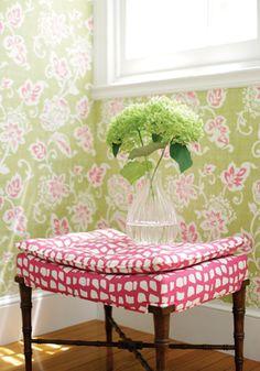Thibaut wallpaper and fabric, Avalon.