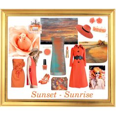Sunset - Sunrise by giovanina-001 on Polyvore featuring Damsel in a Dress, Imperial, Forever 21, Pierre Cardin, Rupert Sanderson, Bling Jewelry, Maison Michel, Sisley, Topshop and Christian Dior