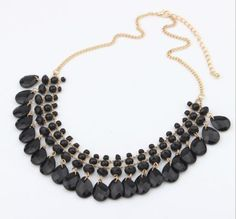 Fashion-Gothic-Lady-Woman-Necklace-Alloy-bib-statement-Bubble-necklace-U-pick