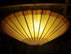 hanging umbrella light how to