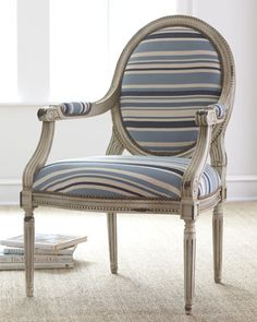 """""""Marina"""" Striped Chair by Massoud at Horchow."""