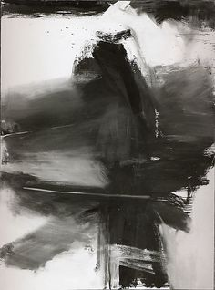 Franz Kline (1910–1962), Black, White, and Gray, 1959, Oil on canvas, 266.5 x 198 cm | The Metropolitan Museum of Art
