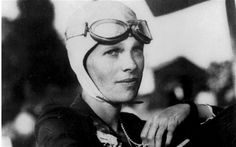 Amelia Earhart 1897-1937. The first woman to fly alone across the Atlantic Ocean in 1932. She disappeared whilst flying over the Pacific in 1937.