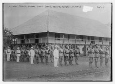 Colonial troops, German Gov't station, Ebolowa, Kamerun, W. Africa  (LOC)
