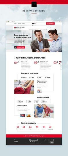 DeltaCredit Bank Website on Web Design Served