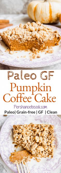 Paleo Gluten-free Pumpkin Coffee Cake, Food And Drinks, Paleo Gluten-Free Pumpkin Coffee Cake Paleo Pumpkin Pie, Gluten Free Pumpkin, Baked Pumpkin, Gluten Free Baking, Pumpkin Recipes, Gluten Free Thanksgiving, Paleo Baking, Pumpkin Pumpkin, Paleo Sweets