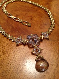 Swarovski crystal pendant necklace beaded by AmyKanarekDesigns