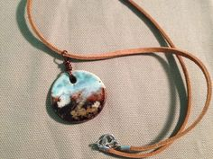 Handcrafted, one of a kind glazed pottery pendant necklace on Etsy, $10.00 CAD