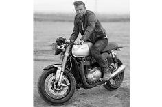 Beckham Belstaff and the 2016 Triumph Bonneville