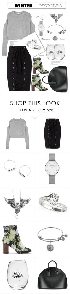 """""""Winter essentials"""" by felicitysparks ❤ liked on Polyvore featuring McQ by Alexander McQueen, Exclusive for Intermix, Daniel Wellington, Sole Society, Kate Aspen, Calvin Klein 205W39NYC and White Label"""