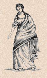 A Roman woman wearing a Stola and Palla. Dark Heart is my Century AD historical romance set in Rome. Ancient Roman Clothing, Roman Dress, Roman Clothes, Middle Eastern Fashion, Roman Era, Dark Material, Roman Fashion, Ancient Rome, Ancient Greek