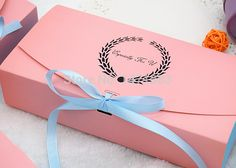 Cheap box processor, Buy Quality box directly from China box component Suppliers: Pink gift box packaging Pink macaron cake boxes Size cm We send you blue ribbon as gifts. Cake Boxes Packaging, Macaron Packaging, Scarf Packaging, Jewelry Packaging, Gift Packaging, Pink Gift Box, Pink Gifts, Luxury Packaging, Brand Packaging