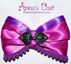 Anna's Coat Hair Bow by MickeyWaffles on Etsy, $9.00