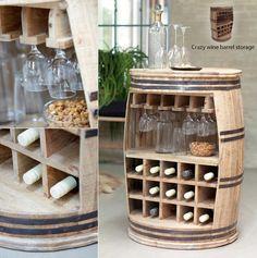Crazy whine barrel storage van het Deense merk Canett Furniture - verkrijgbaar bij Remmelt.nl