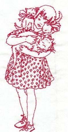 Darling Jem. Custom redwork embroidery, needlepoint, beading, quilting - fine gifts
