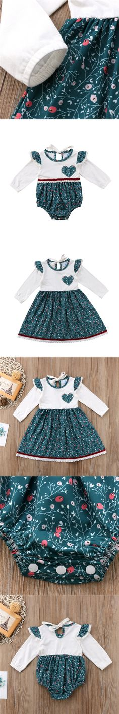 CANIS Toddler Baby Girls Princess Dress Big Little Sister match outfits Flower Long Sleeve Party Pageant Tutu Dresses Romper