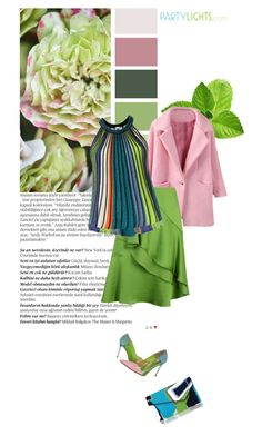 """Green & Pink"" by feelgood35 ❤ liked on Polyvore featuring Balmain, Lanvin, M Missoni, STELLA McCARTNEY, L.K.Bennett, women's clothing, women, female, woman and misses"