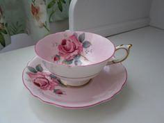 Paragon pink tea cup and saucer,
