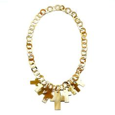 QueCraft Horn Chain Necklace - Q9678