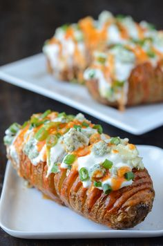 Buffalo Hasselback Potatoes via @The Novice Chef Blog {Jessica}