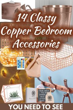 14 Classy Copper Bedroom Accessories You Need To See. Article by HomeDecorBliss.com #HDB #HomeDecorBliss #homedecor #homedecorideas