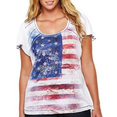 b0b8c7dc12f Unity World Wear® Flutter-Sleeve Graphic Top – Plus - jcpenney