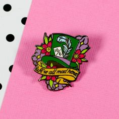 Alice 'Mad Hatter' Enamel Pin from Punky Pins