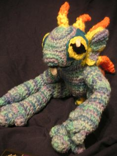 Crochet murloc from World of Warcraft. Not a WoW player myself, but that is adorbs.