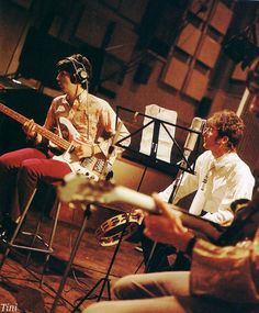 The Beatles recording All You Need Is Love, EMI studios, 1967