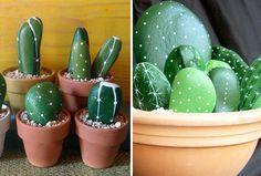 Dekoráld az otthonod egyszerűen kövekkel! - kaktusz kőből