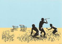 Banksy, Trolleys - 2007