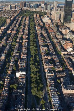aerial view of the back bay boston - Google Search