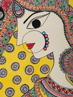 Madhubani Paintings Peacock, Kalamkari Painting, Madhubani Art, Indian Art Paintings, Abstract Paintings, Oil Paintings, Doodle Art Drawing, Cool Art Drawings, Worli Painting