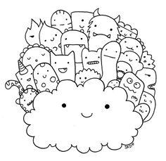Monster doodles for Happie Scrappie's planner kit.