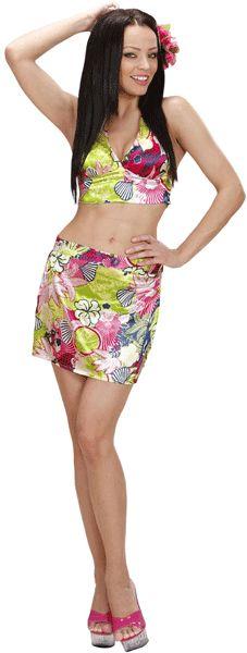 Hawaii rokje en korte top. Hawaii of tropisch feestje? Bij Fun en Feest vind je de leukste Hawaii feestartikelen, kostuums en accessoires. Toppers Crazy Summer kleding tip!