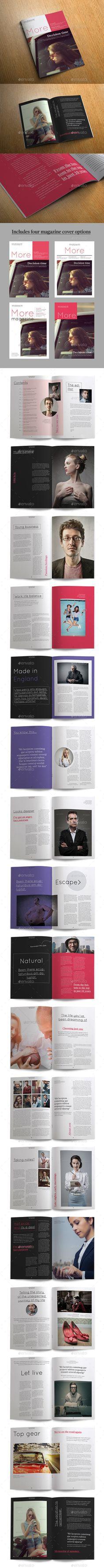 More Magazine Magazine TemplatePrint 40 Pages