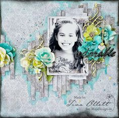 Adorable layout by Tina Ollett, using papers from Nyhavn.