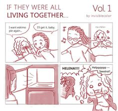 Orphan Black comic, 'If they were all living together' Vol. 1 ( http://invisiblecolor.tumblr.com/)
