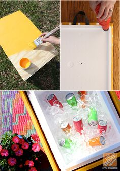 DIY Ideas for a Loud, Laid-Back Patio Makeover: Making a DIY Rolling Cooler Ottoman