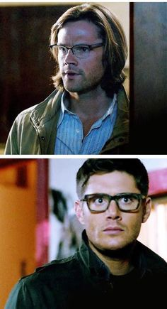 """Supernatural ~ This whole """"glasses scorched in holy fire"""" plot point was literally just a love letter to the fandom.  They know what we like."""