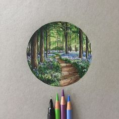 Can we just skip winter and let it be spring instead... #art #drawing #pen #sketch #illustration #spring #wood #forest #bluebell #bluebellwoods #uk #england #countryside #fabercastell