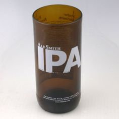 Ale Smith India Pale Ale  IPA 16 ounce drinking glass made from an upcycled beer bottle by pic76, $15.00