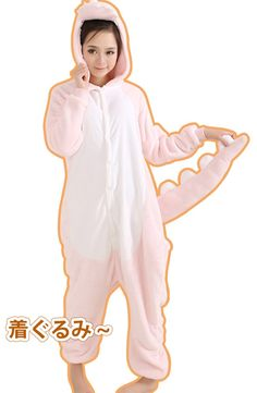 New Pink Dinosaur Adult Animal Winter Fleece Onesie KK860