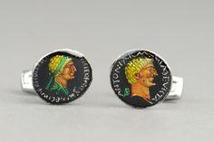 Rome Marcus Antonius and Cleopatra Denarius  Cufflinks. $85.00, via Etsy.