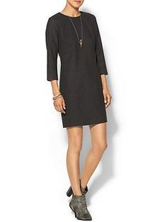 Tinley Road Stretch Wool Dress, great look from top to bottom, including that necklace